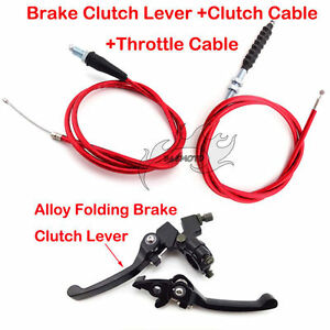 Brake-Lever-Clutch-Cable-Red-For-Pit-Dirt-Bike-90cc-110cc-125cc-150cc-160-CRF50