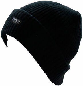 New Boys Black Beanie Hat with Thinsulate Insulation One Size Warm ... 564a95c52a9a
