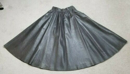 Vintage Richard Rulam Genuine Leather Gray Flare S