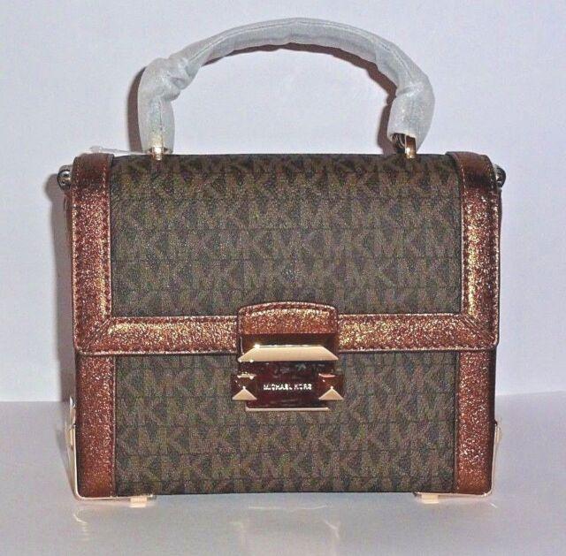 06c0a04bf38 Authentic Michael Kors Bronze Jayne Trunk Messenger Crossbody Bag  30F8MJMM2B for sale online | eBay