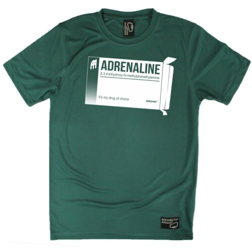 Men/'s Adrenaline Drug Of Choice Breathable Sports T-SHIRT