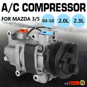 Auto Air Conditioning Compressor For Mazda 3 5 2.0l 2.3l Co 10759c 5511699 6511699 7511699 57463 58463 Tem276032 2021946 A/c Compressor & Clutch Auto Replacement Parts
