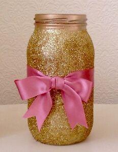 Bespoke glitter mason jar Perfect For Wedding centerpieces/P<wbr/>arty/ home decor
