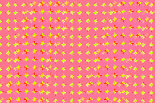 Butterfly Pattern Pink Lenticular Color-Changing Fabric Sheet #SH-R019P#