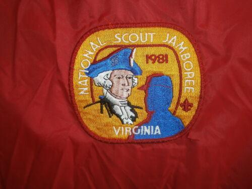 vtg 80s BOY SCOUTS JACKET Nylon Windbreaker 1981 S