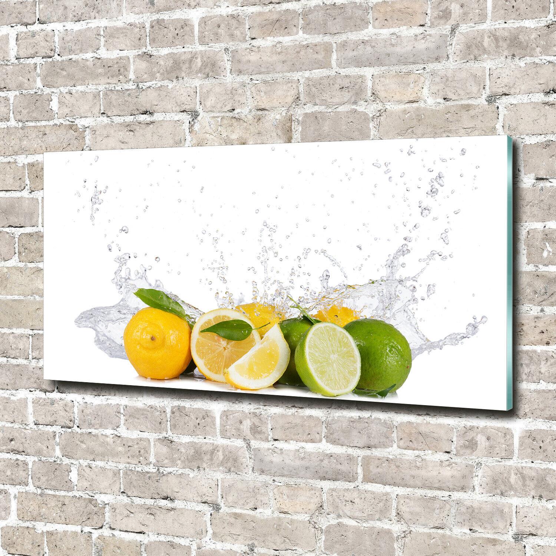 Acrylglas-Bild Wandbilder Druck 140x70 Deko Essen & Getränke Zitrus Wasser