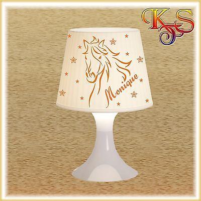Tischlampe Nachttischlampe Pferd *auch LED* Einhorn Lampe Stehlampe Name möglich