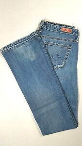 AG-ADRIANO-GOLDSCHMIED-THE-ANGEL-Low-Rise-Boot-Cut-Jeans-Distressed-Size-26