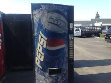 Pepsi Soda Vending Machine W/Coin & Bill Accept Not Pretty But Runs Great