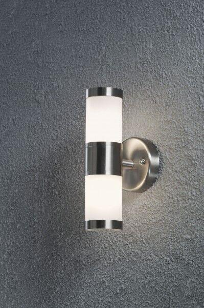 Design Außenleuchte Wandleuchte Edelstahl Lampe Gartenleuchte Außenlampe Leuchte