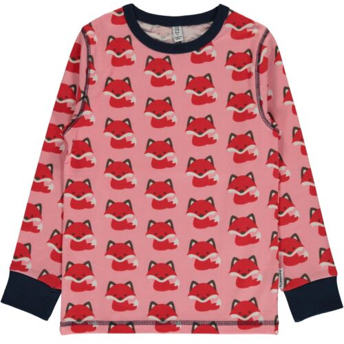 Maxomorra Pink Fox Print Leggings Organic Cotton Scandi