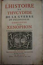 L'Histoire de Thucydide, de la guerre du Peloponese continuée par Xenophon 1662