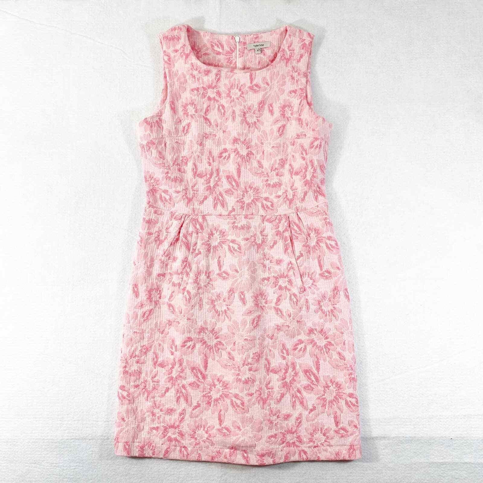 Tyler Boe Dress Small Womens Mini Pink Floral Kni… - image 1
