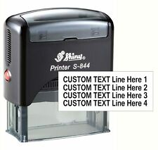 4 Line Personlized Self Inking Shiny S 844 Custom Text Rubber Stamp Office