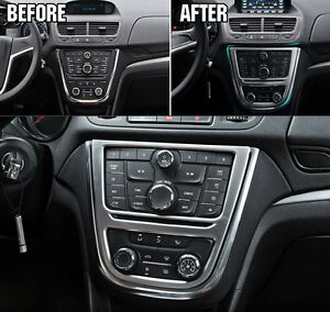 Chrome Cup Holder Center Console Trim Fit For Vauxhall Mokka Buick Encore 12+