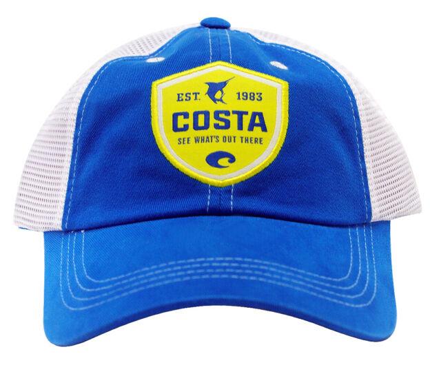 COSTA DEL MAR ORIGINAL PATCH TUNA TRUCKER HAT BLUE SNAP BACK BRAND NEW 2017