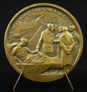 """100% Vrai Médaille Docteur Achard 1927 """"savoir Le Vrai Pour Faire Le Bien"""" Medical Medal"""