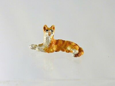 A4705BR Dollhouse Miniature Quarter Scale 1:48 Cat Stretched Out