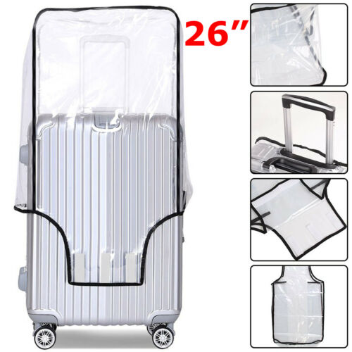 TRANSPARENT SUITCASE COVER TRAVEL LUGGAGE PROTECTOR PVC 20/'/'22/'/'24/'/'26/'/' BAG