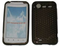 For HTC Incredible S G11 S710E Pattern Gel Case Protector Cover Black New UK