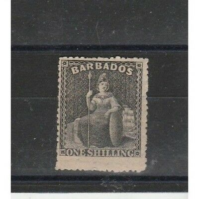 Charitable Barbados 1861 Britannia Filigree Star Grande 1 Val Mlh F.to A Stamps Diena Mf53981 Matching In Colour