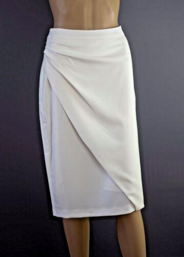 ex Jacques Vert Ivory Long Line Tuxedo Jacket Skirt Suit RRP218 Occasion Wedding