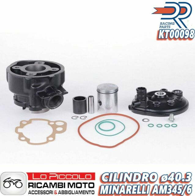 KT00098 GRUPPO TERMICO CILINDRO TOP DR AM6 YAMAHA DT R SM TZR 50cc D.40,3 5 TRAV