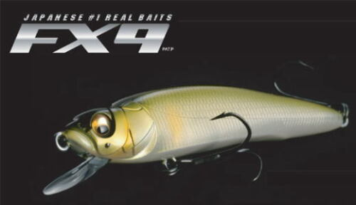 bass, pike, perch Megabass FX-9 jerkbait fishing hard baits