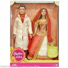 Barbie & Ken in India Gift Pack Dressed in Traditional India Attire Girls Toys