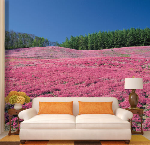 3D Pink Flowers Fields 51 Wall Paper Wall Print Decal Wall Indoor AJ Wall Paper