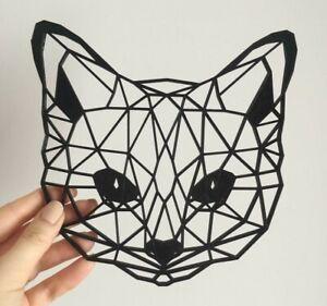Géométrique FOX Wall Art Hanging Décoration Origami Style Choisissez Votre Couleur