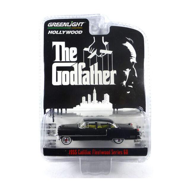 Greenlight 44740-B Cadillac Hitchin Serie 60 Nero 1955 - Hollywood Nuovo !°