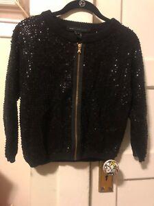 con Incredibile nera maglia e cerniera perlina completa in Jacobs maglione Marc By paillettes S rxqwgr0P