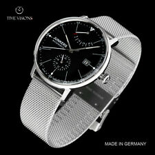 Junkers 40mm Bauhaus German Made Caliber 9132 Automatic Mesh Strap Watch