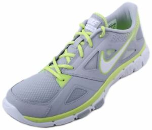 d0f8a4431d215 Nike Flex Supreme Tr 2 Mens Wolf Grey White-Volt Running Sneakers ...
