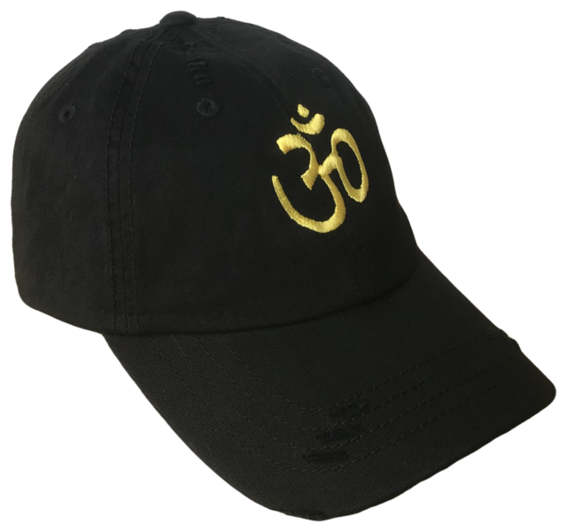 Sacred Om Symbol Curved Bill Vintage Polo Baseball Cap Caps Dad Hat Black  Gold 56dc3d4e5fc