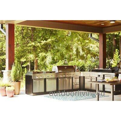Ultimate Outdoor Kitchen w/ GRILL, SINK, REFRIGERATOR ...