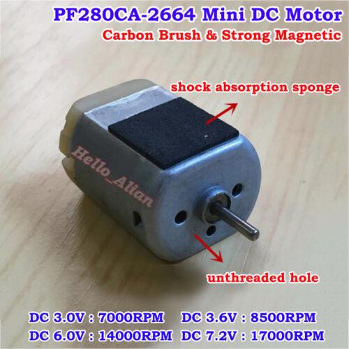 PF-280CA Motor DC 3V 6V 7.2V 17000RPM High Speed Carbon Brush Strong MagneticToy