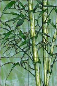 Bamboo-Tile-Mural-Paned-Expressions-Tropical-Art-Ceramic-Backsplash-OB-PES35