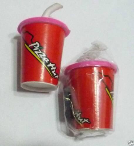 "PIZZA HUT Restaurant Soda Cup Top Limited FRIDGE MAGNET Novelty 1.5/"" Tall"