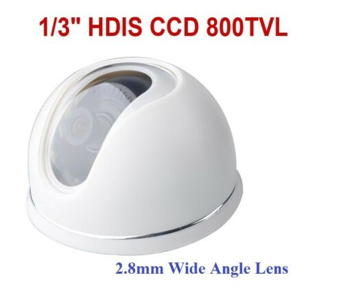 "800 TVL 1//3/"" HDIS Mini Dome Indoor Security Camera  DC 12V"