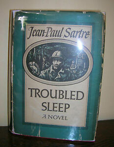 Troubled-Sleep-By-Jean-Paul-Sartre-1951-with-Dust-Jacket-RARE