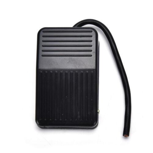 AC 250V 10A SPDT NO NC Antislip Power Foot Pedal Switch Black ZN
