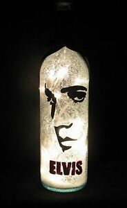 Hand Painted Elvis Presley Night Light Lamp Made From An