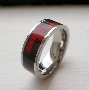 8mm s titanium wedding band ring blakwood hawaiian