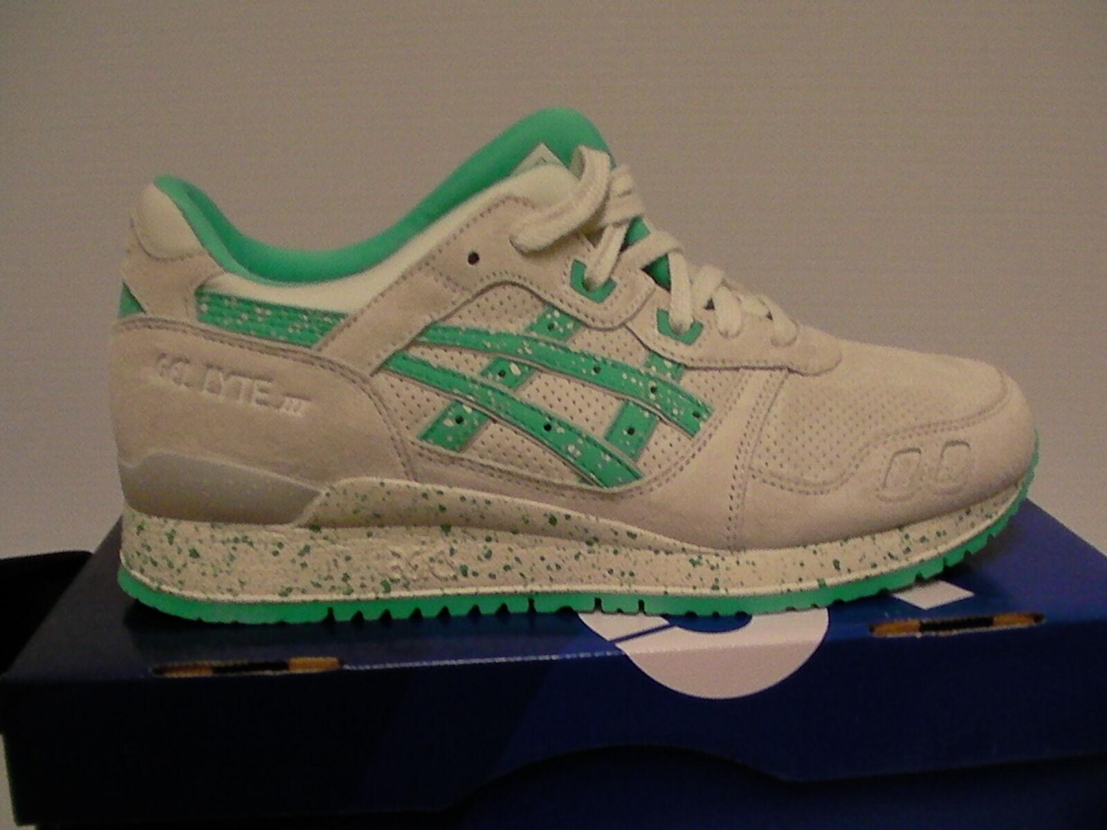 Le scarpe da corsa gel lyte iii di taglia 10 noi uomini di iii giglio bianco / aqua verde nuovo 390df7