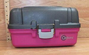 Angelsport Zubehör Humorvoll Creative Options Pink & Grau Kunststoff Angelkasten Sammelbehälter Beachte Weder Zu Hart Noch Zu Weich