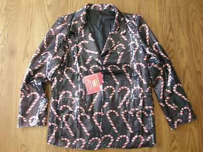 Std /& Plus XL Candy Cane Suit Ugly Christmas Funny Jacket