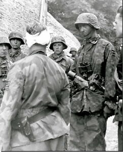 WWII-B-amp-W-Photo-Wounded-German-Soldier-WW2-2329-NEW