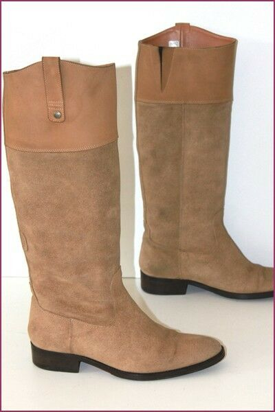 AIGLE Riding Boots Suede Beige T 37 VERY GOOD CONDITION